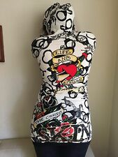 ED HARDY Sweater Dress with Hood, Life And Honor, CHRISTIAN AUDIGIER Small $150