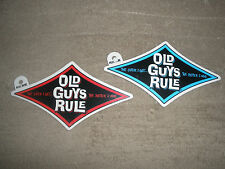 "(2) OLD GUYS RULE "" THE OLDER I GET..BETTER I WAS "" DIAMOND BEACH DECAL STICKERS"