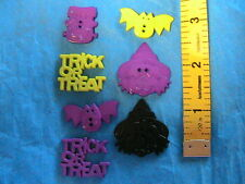 LOT OF 7 HALLOWEEN MIXED bats-Frank FLATBACK~2-hole BUTTONS sew~scrapbook~crafts