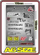 RC DRIFT STICKER SHEET A6 1/10 ABC HPI MST YOKOMO TAMIYA BODY PANDORA 3 RACING 4