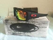 Oakley1Matte Black Frame Fire Iridium Lens Sunglasses