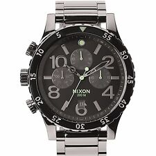 Nixon Mens LEFTY The 48-20 Chrono Polished Gunmetal / Lum Stainless Steel Watch