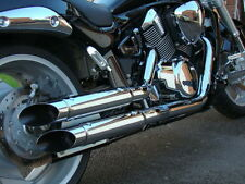 SUZUKI M1800 R INTRUDER, VZR1800, M109R: FAT PIPES SLASHCUT EXHAUST (653-4069)