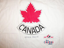 NHL Canadian Hockey Team Maple Leaf White Graphic Print T Shirt XL
