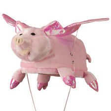Bright Pink When Pigs Fly With Flapping Wings Novelty Pig Hat