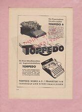 FRANKFURT/M., Werbung 1935, Torpedo-Werke AG Schreibmaschine