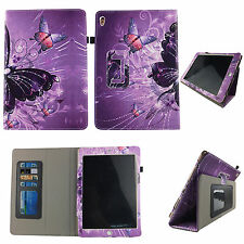 MULTI BUTTERFLY FOLIO CASE IPAD 2/3/4 SLIM FIT POCKET TABLET STAND COVER