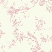 ARTHOUSE CHINOISE CREAM FLORAL PINK BIRDS OPERA HEAVYWEIGHT WALLPAPER 422802