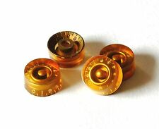GuitarSlinger Parts - Aged Gold Speed Knobs for Les Paul® - Gold - #1056