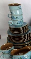 Taylor Smith Taylor Vintage 1968 AZURA China 9 Coffee Cups & 8 Saucers Only
