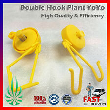 10pairs Double Hook Plant Yoyo Hanger 155cm String Lead With Grower Easy Stopper
