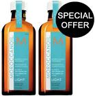 2 x Moroccan Oil Light Hair Treatment 200ml Free Pump / Fine Coloured Hair