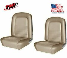 1967 Mustang Front Bucket Seat Upholstery- Pair- Parchment by TMI - IN STOCK!!
