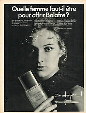 PUBLICITE ADVERTISING 045  1970  LANCOME   eau de toilette  after-shave BALAFRE