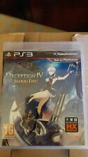 DECEPTION IV BLOOD TIES EDIZIONE ITALIANA GIOCO INGLESE  PS3 SIGILLATO