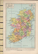 1932 MAP ~ IRELAND ~ CONNAUGHT MUNSTER ULSTER CLARE CORK etc