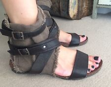 Canvas Ankle Gladiator Sandals - Never 2 Hot 4 / 37 Military Style!