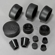 12x Black Rubber Frame Plugs for Motorcycle Fairing Suzuki GSX-R 1000 2007 2008