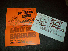 MASSEY HARRIS COMBINES 1957 BROCHURE PROMO FLYER ADVERTISEMENT LITERATURE
