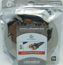 UltraLink Challenger 2.0 RCA Audio Interconnect Cables 4 meter pair