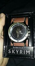 Limited edition The Elder Scrolls v Skyrim collectors watch with leather band