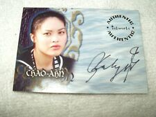 Buffy The Vampire Slayer Autograph Card Kristy Wu as Chao-Ahn A49