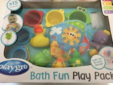New Kids Boys Girls Toddler Infant Baby Playgro Bath Fun Play Pack Toy Gift Set