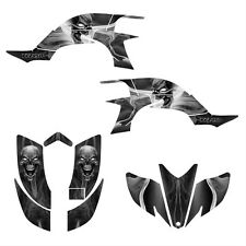 Yamaha YFZ 450 graphics kit 2003 2004 2005 2006 2007 2008  #6666 Metal Skull