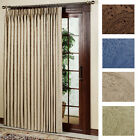 "NEW Gabrielle Pleat Thermal Patio Door Panel Curtain - 96"" wide by 84"" long"
