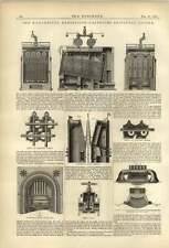 1874 Griffiths Sectional Boiler Whitwell Stove Plan Illustration