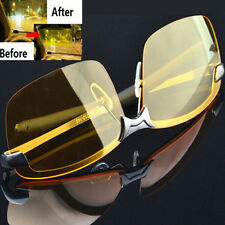 Men High-End Night Vision Polarized UV400 Driving Glasses Aviator Sunglasses ONE
