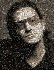 Amazing U2 Bono Album Cover Mosaic art print with COA