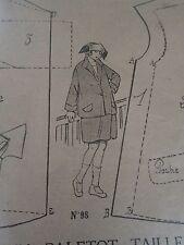 """PATRON ORIGINAL POUR LA POUPEE LISETTE  """"  PALETOT TAILLEUR  1923"""