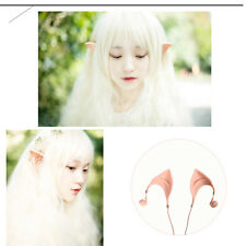 3.5mm Elf Ears Costume Cosplay Spirit Earphones Headphones In-Ear Earbuds Remote