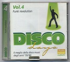 DISCO DAYS-vol4-FUNK REVOLUTION-come nuovo-excellent CD338