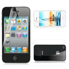 2pcs Front + Back Clear Full Body Screen Protector Film Guard for iPhone 4 4S 4G