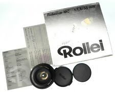 Rolleinar MC 55mm f1.4 Rollei mount  #6101366 ......... Minty w/Box,Caps,Card