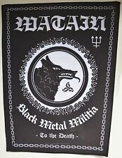 WATAIN Black Metal Militia Backpatch - 39 cm high / 39 cm hoch - 163644
