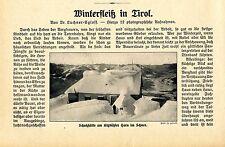 Winterfleiß in Tirol Kizbühl Holzschnitzer Grödener Tal Bauernweber Seieralm1911