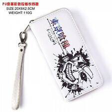 NEW USA Seller NEW White TOKYO GHOUL Japanese Print Large Zipper Enclosed Wallet
