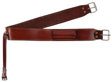 Brown Leather Back Horse Cinch Rear Flank Body Girth Strap Tack Western saddle