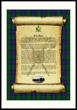 CLAN SHAW - Clan History, Tartan, Crest, Castle & Motto MOUNTED PRESENTATION