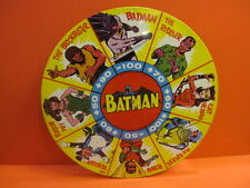 ALL ORIGINAL METTOY LARGE BATMAN SPIN DART TARGET GAME 16'' ENGLAND 1966