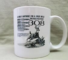Classic Winchester 308 Cartridge Coffee Cup, Mug - New - Cool Vintage Look