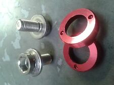 M8 Crank Bolts (SELF EXTRACTING) Octalink ISIS BB (PAIR) 8mm thread (RED)