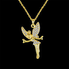 18K Gold Ballet Girl Pendant Chain Necklace Jewelry Valentine's Day Gifts 4 Her