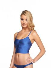 NWT BODY GLOVE SHINE ON ME DENIM ECHO CAGE TOP SURF RIDER BIKINI BOTTOM M