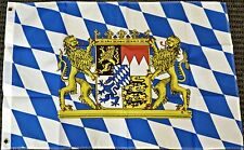 3x5 Bavaria Germany with Lions Bavarian German Oktoberfest Octoberfest Flag New