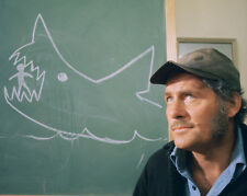 JAWS COLOR 8X10 PHOTOGRAPH ROBERT SHAW BY SHARK CHALK DRAWING CLASSIC