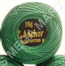 1 x Anchor Cotton crochet cross stitch embroidery thread ball Solid Green Color